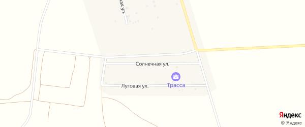 Солнечная улица на карте Грибского села с номерами домов