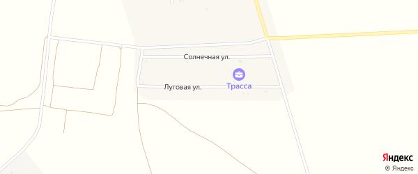 Луговая улица на карте Грибского села с номерами домов