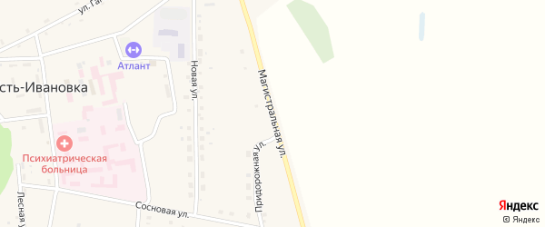 Магистральная улица на карте села Усть-Ивановки с номерами домов