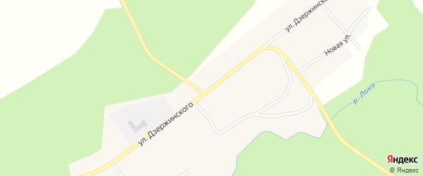 Улица Дзержинского на карте села Семеновки с номерами домов