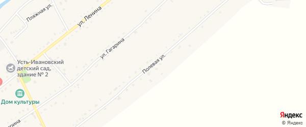 Полевая улица на карте села Усть-Ивановки с номерами домов