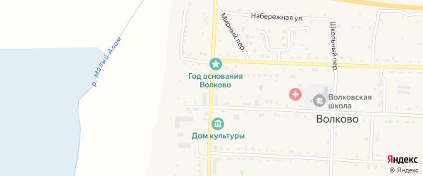 Центральная улица на карте села Волково с номерами домов