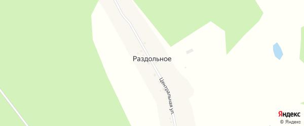 Центральная улица на карте Раздольного села с номерами домов