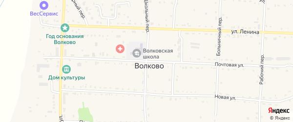 Школьный переулок на карте села Волково с номерами домов