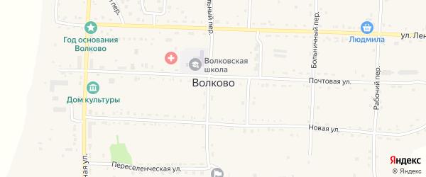 Мирный переулок на карте села Волково с номерами домов