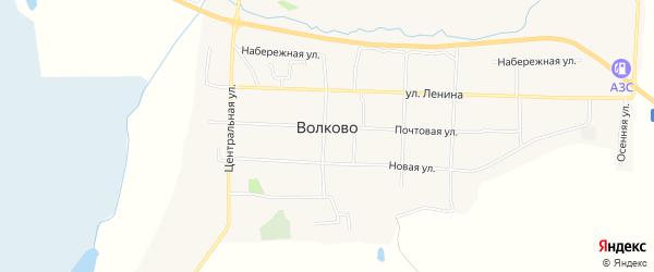 СТ Поликлиника 1 на карте села Волково с номерами домов
