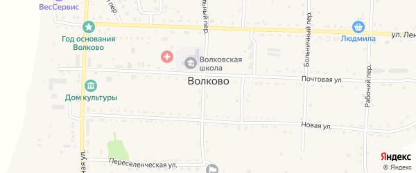 Мкр Зеленый остров Зеленая улица на карте села Волково с номерами домов