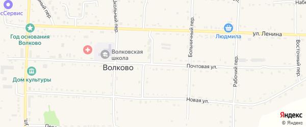 Почтовая улица на карте села Волково с номерами домов