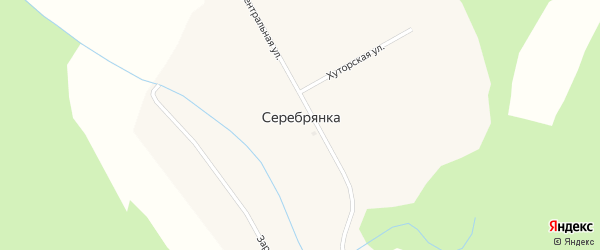 Заречная улица на карте села Серебрянки с номерами домов
