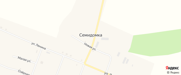 1-й переулок на карте села Семидомки с номерами домов