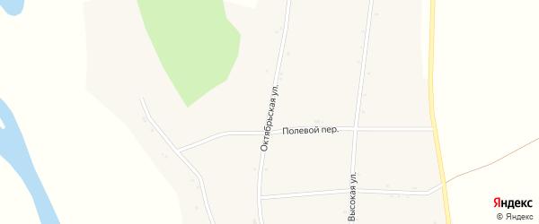 Октябрьская улица на карте села Петропавловки с номерами домов