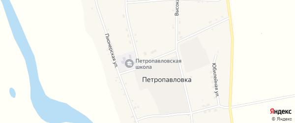Кооперативный переулок на карте села Петропавловки с номерами домов