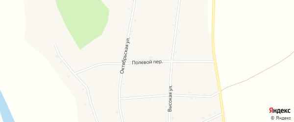 Полевой переулок на карте села Петропавловки с номерами домов