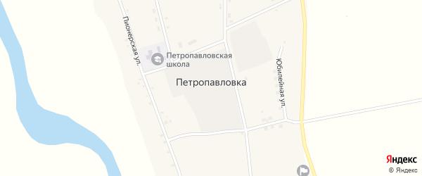 Юбилейная улица на карте села Петропавловки с номерами домов