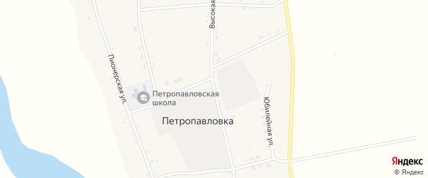Высокая улица на карте села Петропавловки с номерами домов