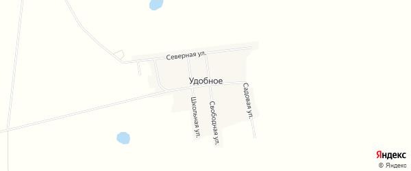 Карта Удобного села в Амурской области с улицами и номерами домов