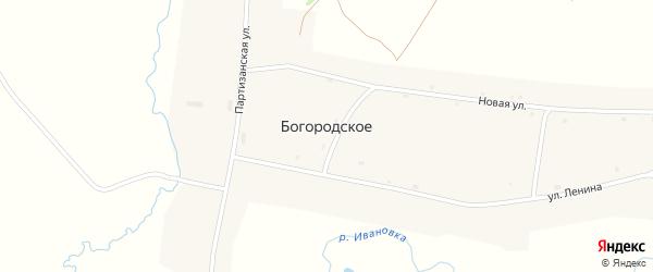 Школьный переулок на карте Богородского села с номерами домов