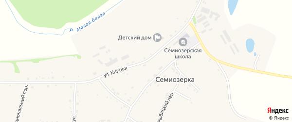 Улица Кирова на карте села Семиозерка с номерами домов