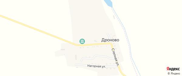 Центральная улица на карте села Дроново с номерами домов