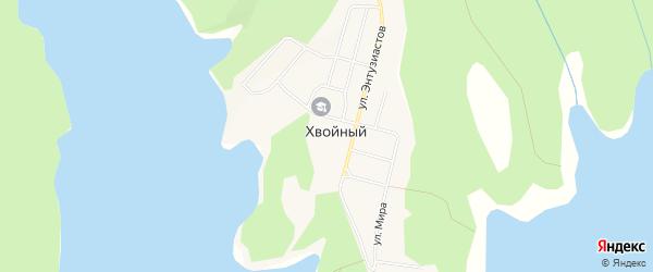 Карта Хвойного поселка в Амурской области с улицами и номерами домов