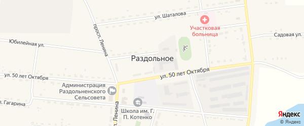 Улица Гагарина на карте Раздольного села с номерами домов