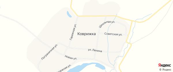 Карта села Коврижки в Амурской области с улицами и номерами домов