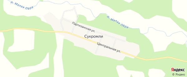 Карта села Сукромли в Амурской области с улицами и номерами домов