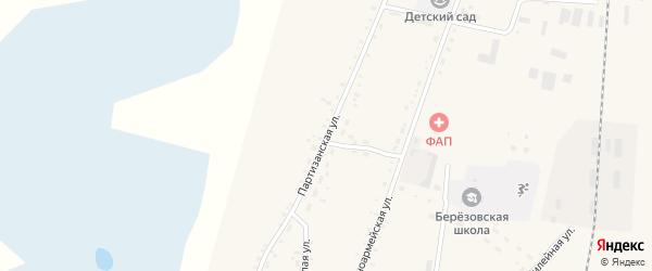 Партизанская улица на карте села Березовки с номерами домов