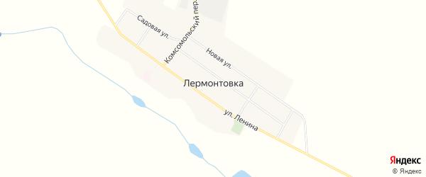 Карта села Лермонтовки в Амурской области с улицами и номерами домов