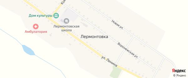 Воронежская улица на карте села Лермонтовки с номерами домов