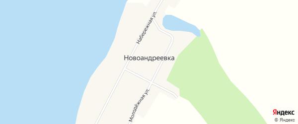 Молодежная улица на карте села Новоандреевки с номерами домов