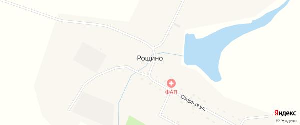 Озерная улица на карте села Рощино с номерами домов