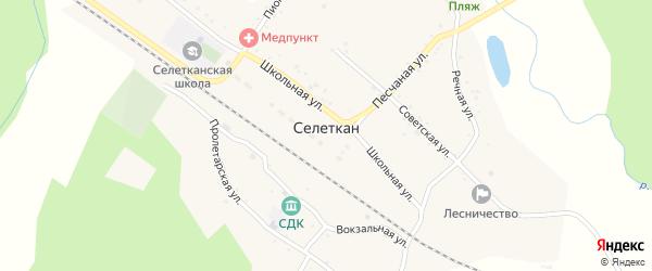 Вокзальная улица на карте села Селеткана с номерами домов