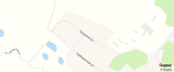 Трудовая улица на карте села Дмитриевки с номерами домов