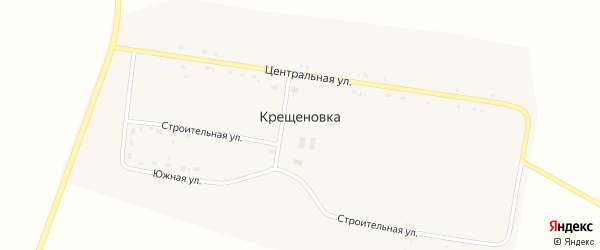 Строительная улица на карте села Крещеновки с номерами домов
