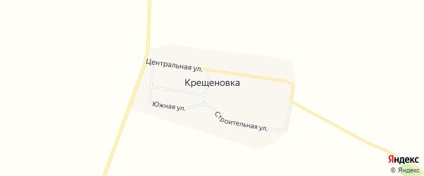 Карта села Крещеновки в Амурской области с улицами и номерами домов
