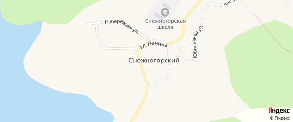 Набережная улица на карте Снежногорского поселка с номерами домов