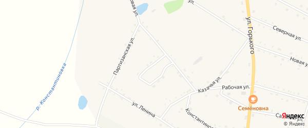 Колхозный переулок на карте села Константиновки с номерами домов