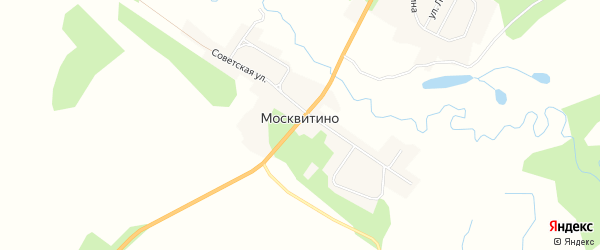 Карта села Москвитино в Амурской области с улицами и номерами домов