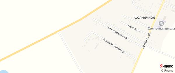 Рабочая улица на карте Солнечного села с номерами домов