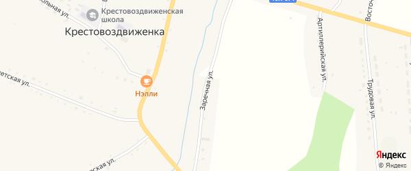 Заречная улица на карте села Крестовоздвиженки с номерами домов