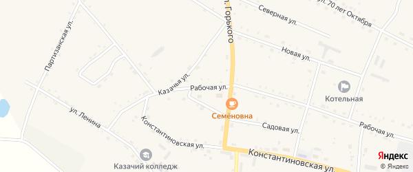 Рабочая улица на карте села Константиновки с номерами домов