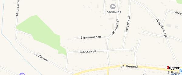 Заречный переулок на карте села Ивановки с номерами домов