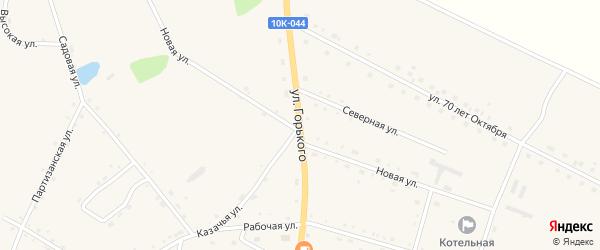 Улица Горького на карте села Константиновки с номерами домов