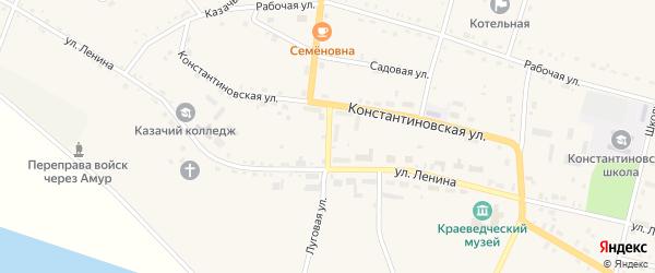 Торговый переулок на карте села Константиновки с номерами домов