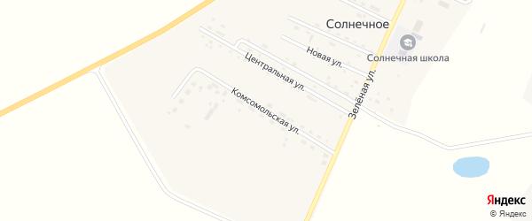 Комсомольская улица на карте Солнечного села с номерами домов