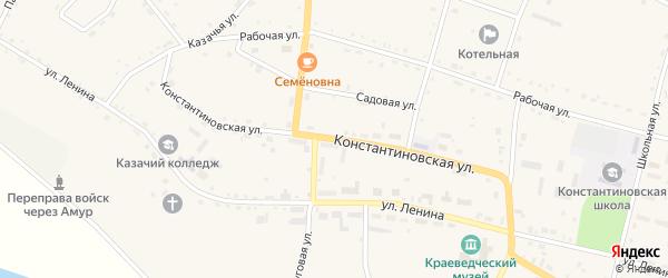Константиновская улица на карте села Константиновки с номерами домов