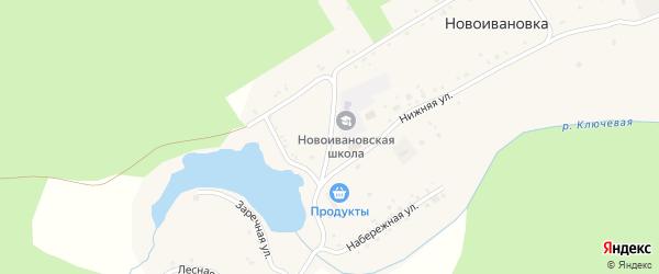 Школьная улица на карте села Новоивановки с номерами домов