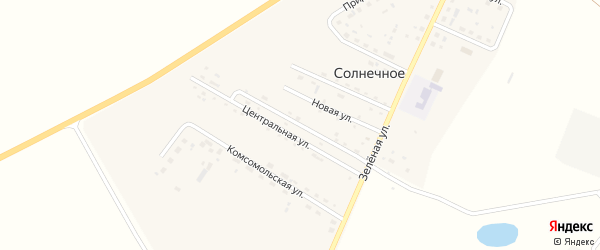 Школьная улица на карте Солнечного села с номерами домов