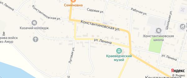 Улица Ленина на карте села Константиновки с номерами домов